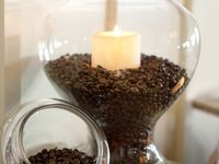 Coffee beans and vanilla candle