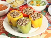 ... Stuffed peppers, Stuffed pepper recipes and Stuffed poblano peppers
