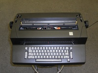 When it was time to trade my typewriter for a computer, I was the last to make the switch at the office.  I loved my IBM Selectric II TW.