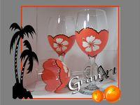 Painted Wine Glasses 2