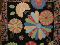 Quilts with Dresden plate