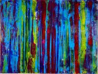 Los Angeles abstract art / Los Angeles based painter Nestor Toro.