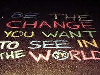 be the change <3