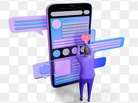 Telefone Movel Como Vilao 3d Elemento 3d Clipart De Telefone Movel Celular Gostar Imagem Png E Psd Para Download Gratuito Geometric Pattern Background Png Phone