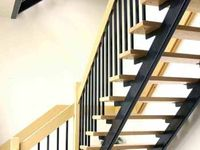 Straight staircases on pinterest staircases floating staircase and floating stairs - Redo houten trap ...