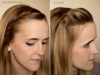 how to pin back bangs