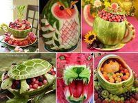 Fruta y comida decorada