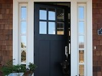about front door on pinterest craftsman blue doors and shaker style. Black Bedroom Furniture Sets. Home Design Ideas