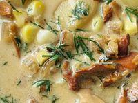 Chicken Thighs With Chanterelle Mushroom Sauce Recipe — Dishmaps