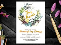 Thanksgiving Invitations Ideas