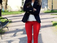 Red pants outfits