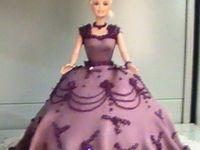 Cakes en robe de Barbie