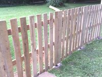 20 Best Images About Pallet Fence On Pinterest