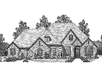 floor plans aflfpw23268 1 story french country home with 3 bedrooms 2 bathrooms and - 1 Story French Country House Plans