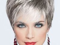 Short hairstyles with white and grey hair