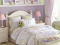 Green and Purple Girl's Bedroom