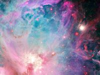 Space photos of the infinite universe, including planets and stars.