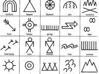 Und indianer ihre bedeutung zeichen Symbole und