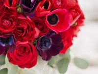 Red flower arrangements, bouquets, centerpieces, event decor, corsages boutonnieres