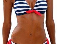 10344 ALZORA Neckholder Damen Bikini Push Up Set Top und Hose Auswahl Farben