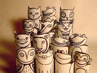 Handmade paper toys