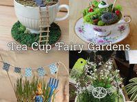 ... tea cup fairy garden on Pinterest | Fairies Garden, Tea Cups and