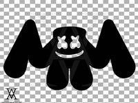 Dj Marshmello Logo Silhouette Clipart Vector Instant Etsy In 2021 Logo Silhouette Clip Art Dj