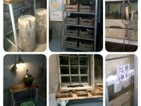 Industrieel & Stoere meubels / Oude materialen nu als gebruik in huis. Stoer en industrieel nu weer helemaal hip!