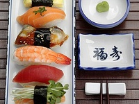 A variety of Japanese food and drink--some recipes, some pictures only