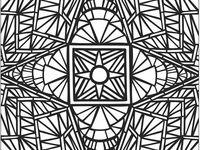 coloriages mandalas rectangles