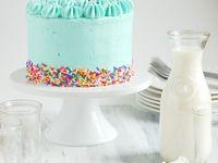 vegan baby shower cake
