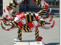 I *love* the Public Art trend of Animals on Parade, started with the Cows on Parade in the early 2000s, & has grown into all sorts of Statues on Parades.   Ever since, I've wanted to travel & see ALL of the Statues on Parade!! ... Sadly, many have been taken down, but I want to collect pics with/of as many as I can.   ...I've got a few (Athens, GA Bulldogs & Clearwater, FL Dolphins), but so many more to see!!!
