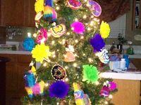 Decoraci/ón de mesa Decoraci/ón de tul Decoraci/ón de fiesta navide/ña 15 CM Flotador de tul de encaje de 10 yardas Tulle