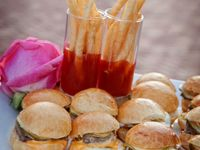 ... Party on Pinterest | Pickled onions, Burger and fries and Burgers