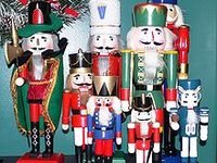 Nut crackers have been around since the 15th century, the earliest dates to 1481.They were made of metal and brass until about the 1800's in Germany when the popularity of the wooden ones spread.They were originally designed to crack nuts although some are used to crack lobster and crab shells.They have long been a symbol of Christmas and modern nutcrackers serve mostly for decoration.The most famous nutcrackers, Steinbach, come from Sonneberg and the Ore Mountains in Germany avg. price $400.00