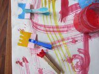 Zabawy farbkami / Farbki, farbki i jeszcze raz farbki! Te kupione i te robione w domu :)