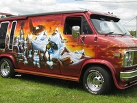 17 best images about wizard vans on pinterest semi for 9 11 mural van