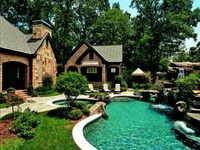 Welcome to Dream Yard's Pinterest board for your swimming pool ideas. With these inground pool pictures, you can also find some inspiration for your inground pool landscaping ideas, like patio's and other features. Thanks for visiting us, and hopefully you can check out some more of our boards.