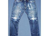 Eto Mens Designer Vintage Funky Engineered Stylish Premium Tapered Denim Jeans