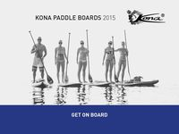 Kona 2015 SupRange / Kona offers 2015 a full range of inflatable and hard paddle boards for all kinds of paddlers and conditions. We have taken our successful models a step further by listening to our clients and improved the boards in every detail as well as adding new models into the program.