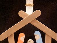 Simple Nativity Crafts for Kids