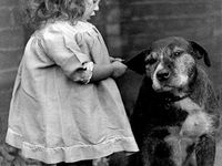 Mostly Vintage Photography ~ Children with Pets