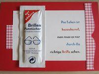 Geschenk basteln brille