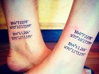 Coordinates Tattoo