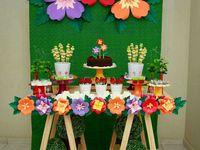 festa com flores