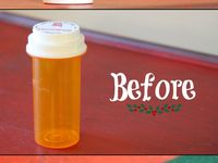 Up cycle pill bottles