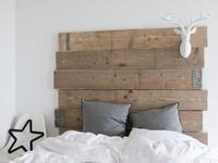 Les 24 meilleures images concernant lit en bois de grange sur pinterest t t - Tete de lit bois rustique ...