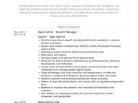 Optometrist Resume Samples Visualcv Resume Samples Database Resume Optometrist Resume Examples