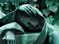 cenetaries, head stones, statuary