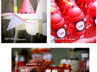 idea generation and actual shots from noah's 3rd birthday party, fireman themed!